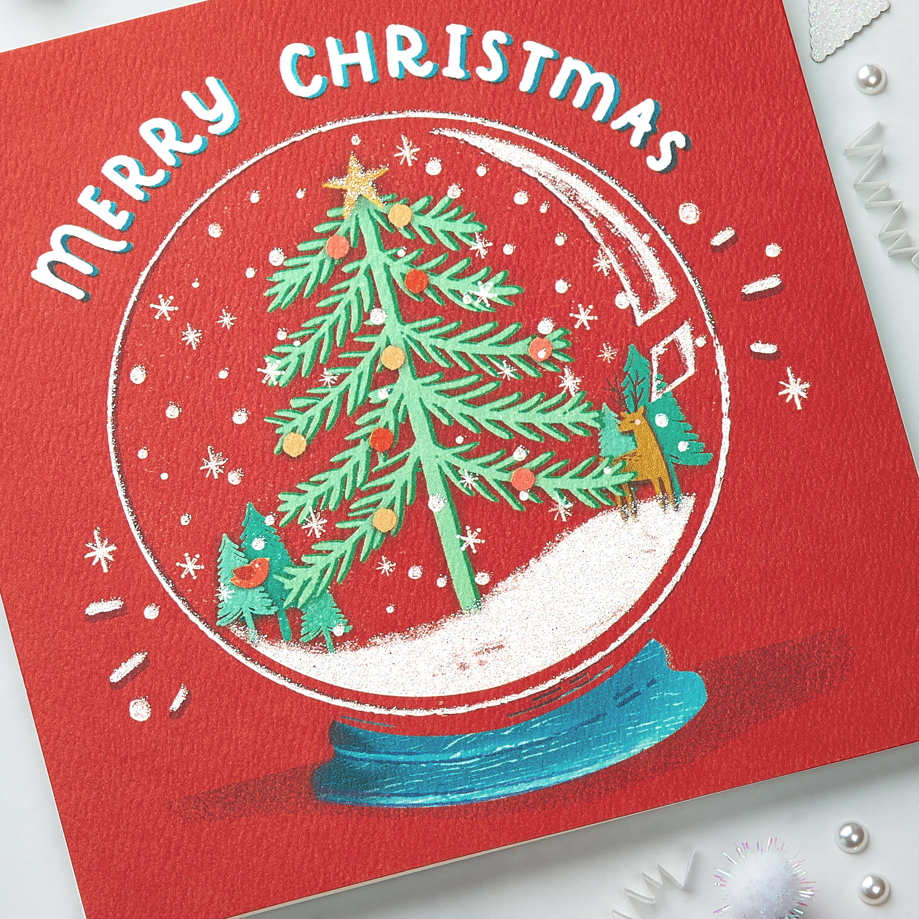 Snowglobe Christmas Greeting Card, 6-Count image