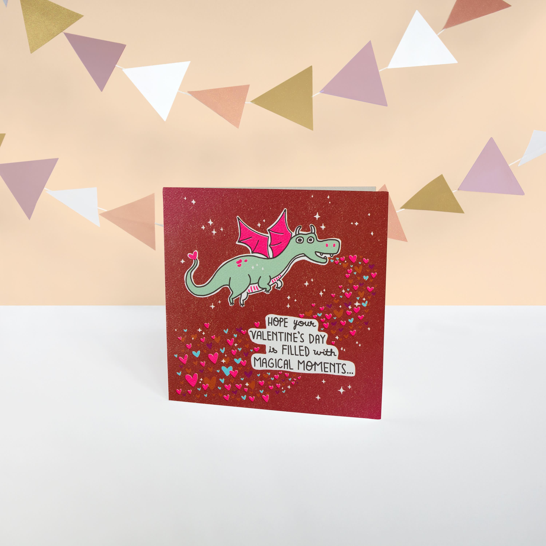 Dragon Valentine's Day Card image