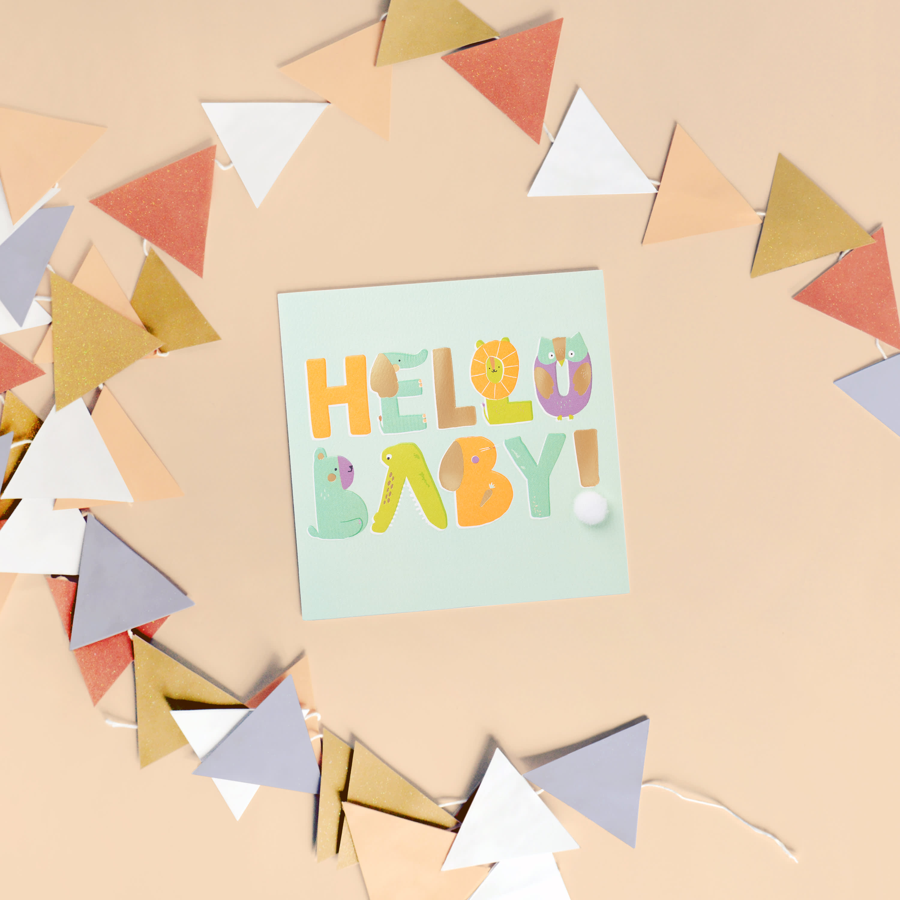Hello Baby Congratulations Card image