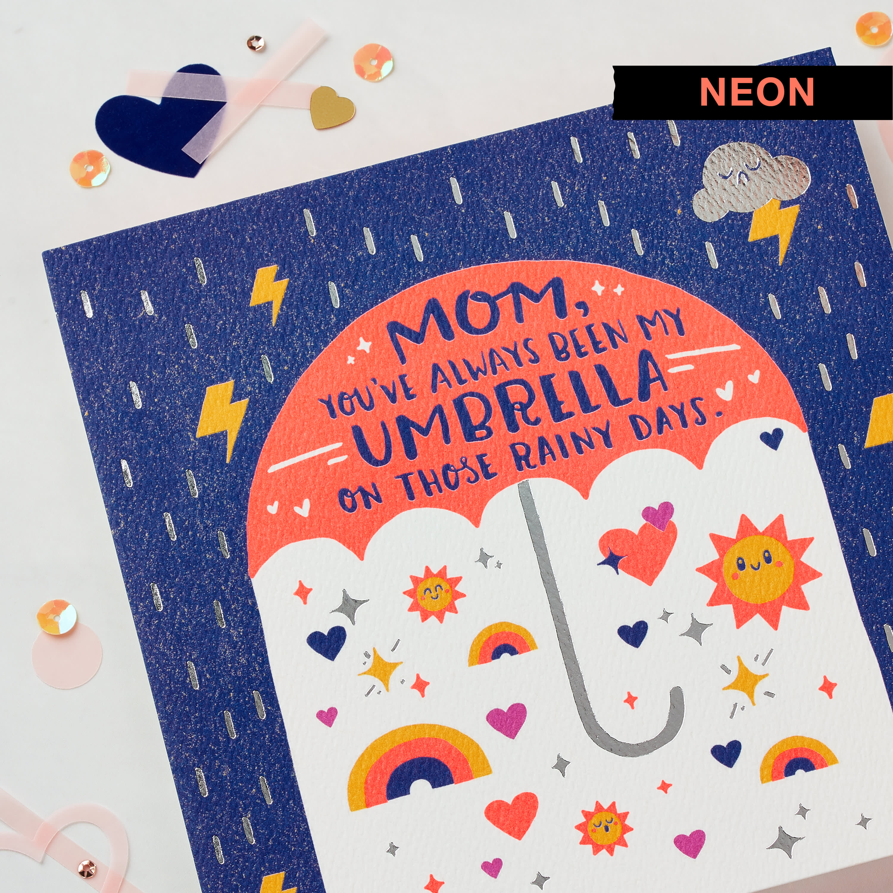 Umbrella Mother's Day Card image