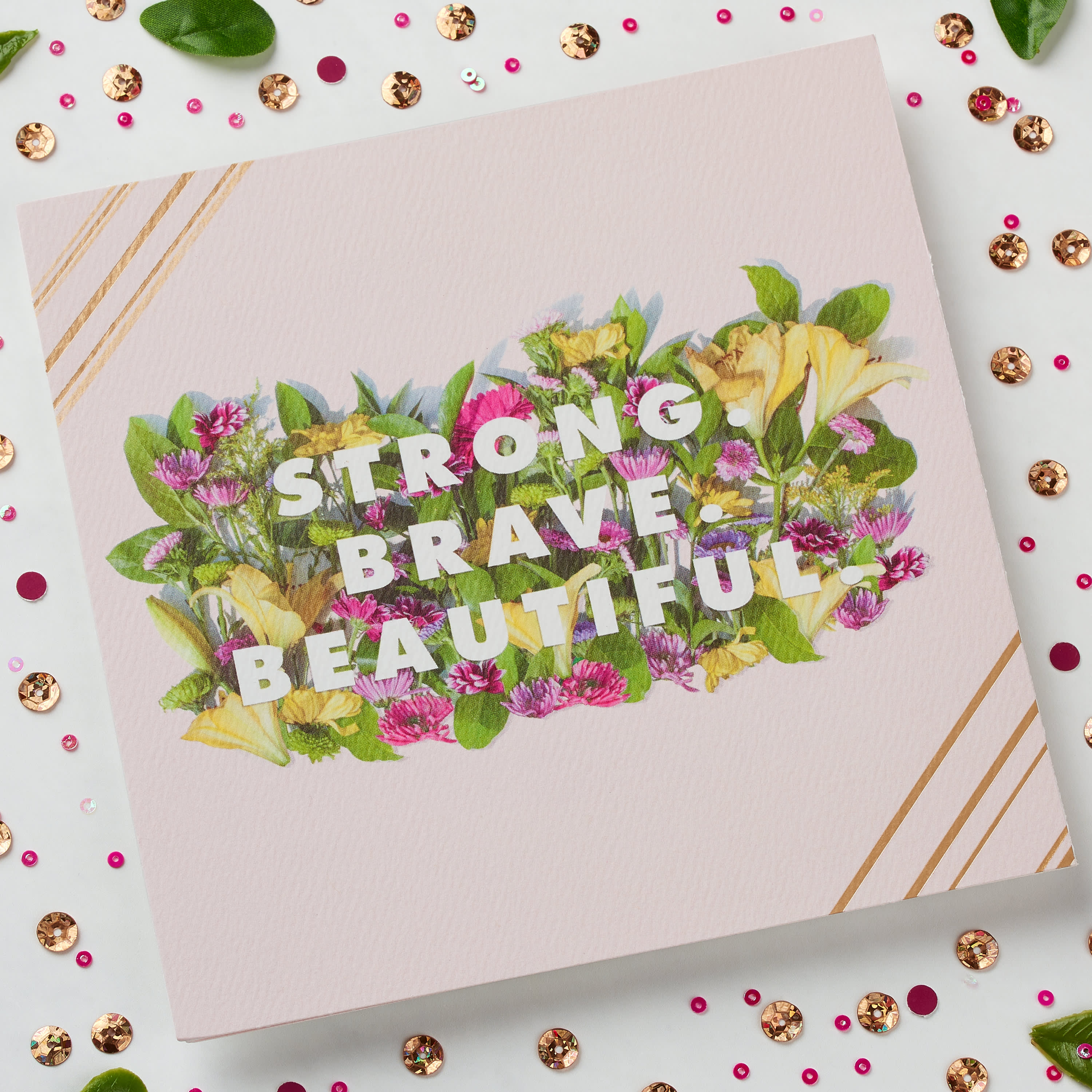 Strong Brave Beautiful Mother's Day Card image