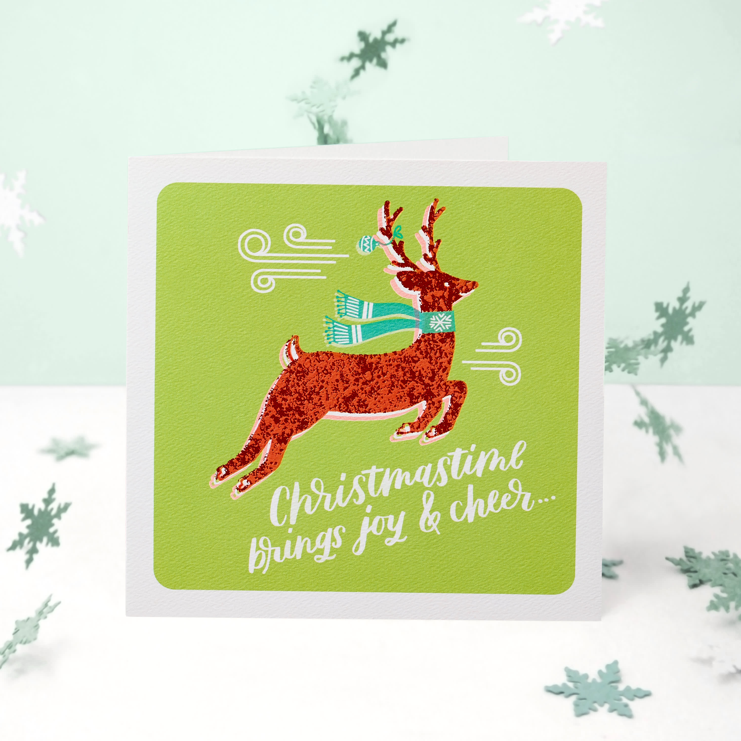 Reindeer Christmas Money and Gift Card Holder Greeting Card image