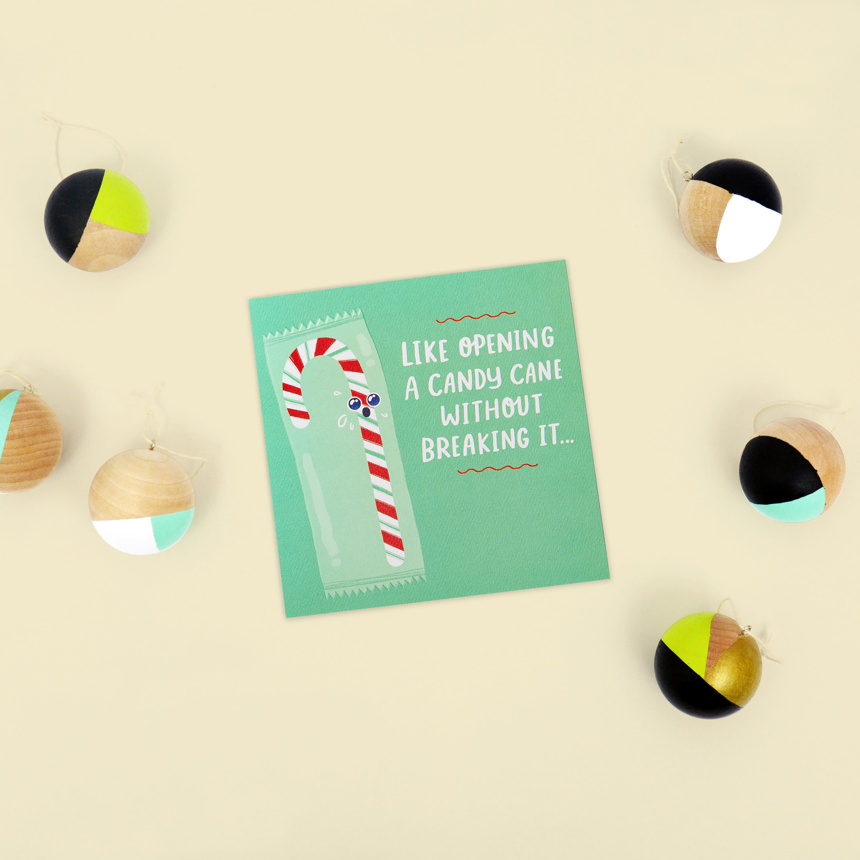 Candy Cane Christmas Greeting Card image