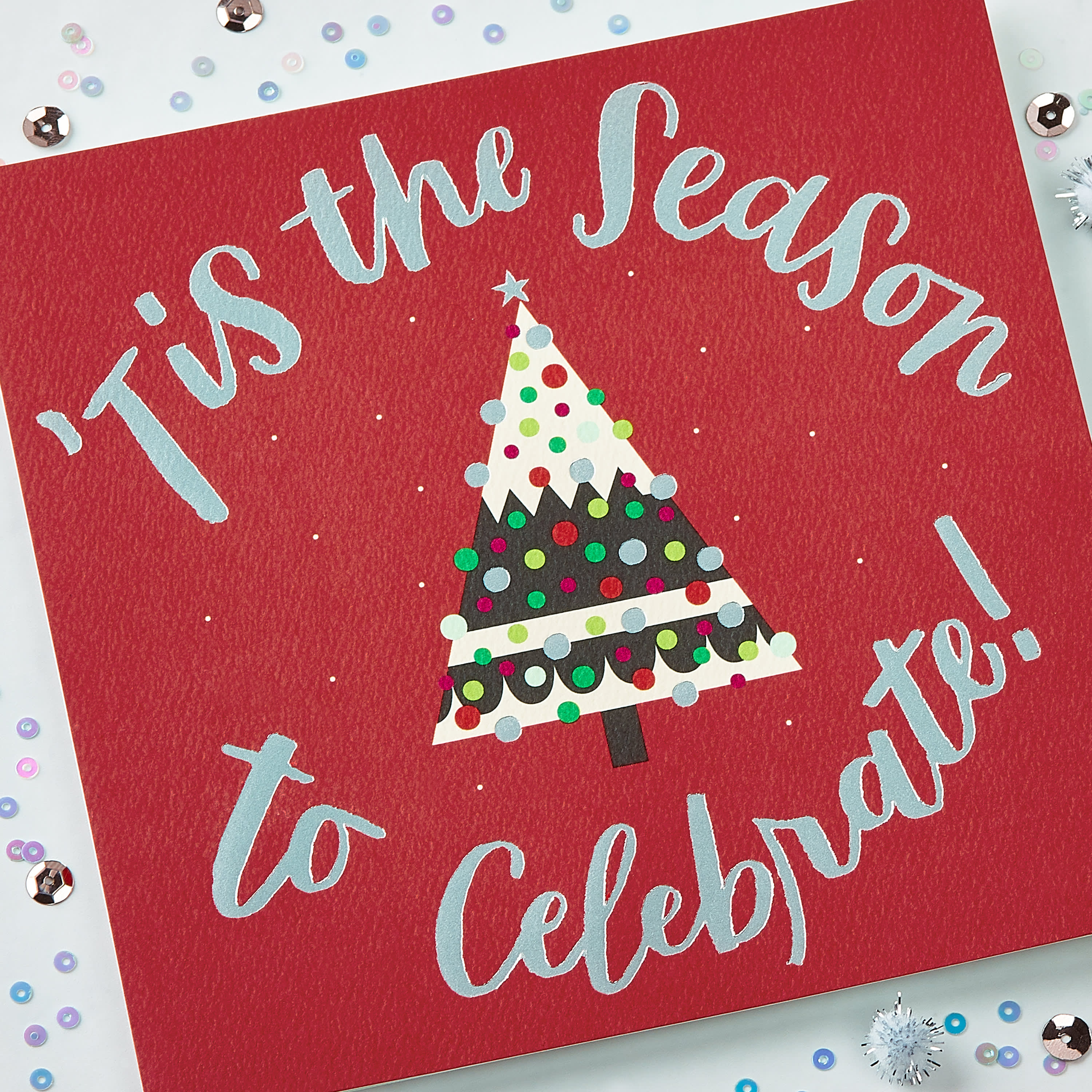 Celebrate Christmas and New Year Greeting Card image