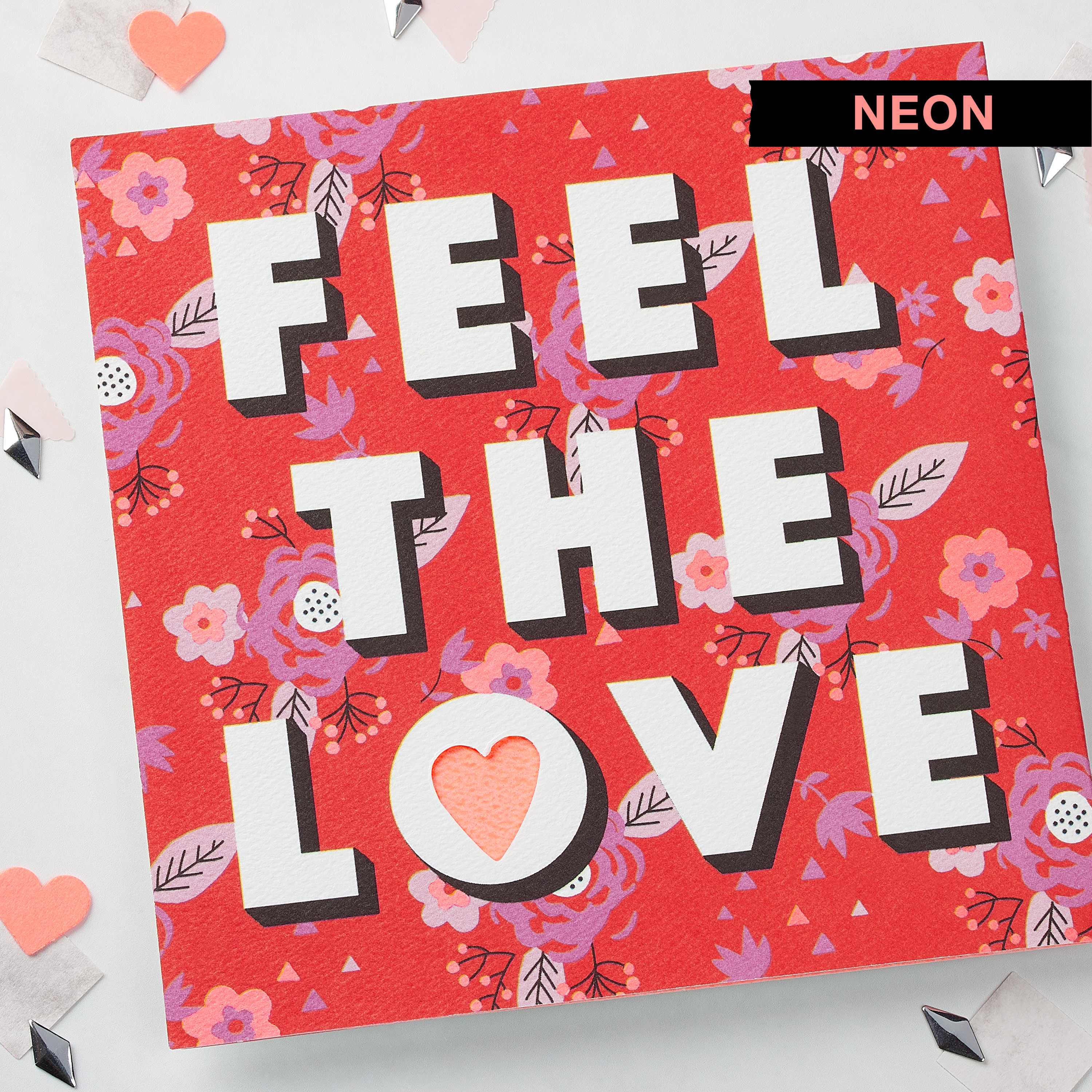 Feel the Love Valentine's Day Card image