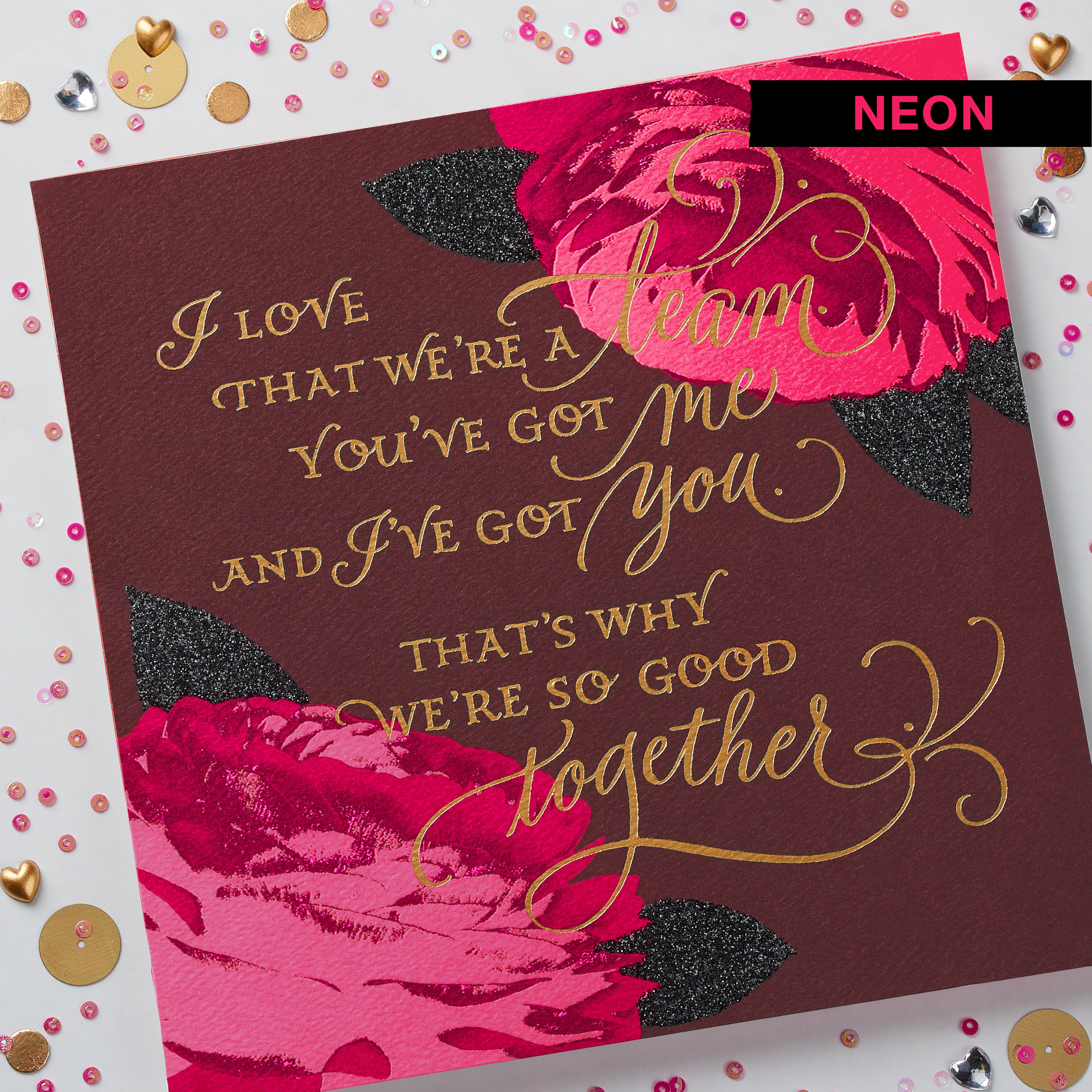 Floral Valentine's Day Card for Wife image