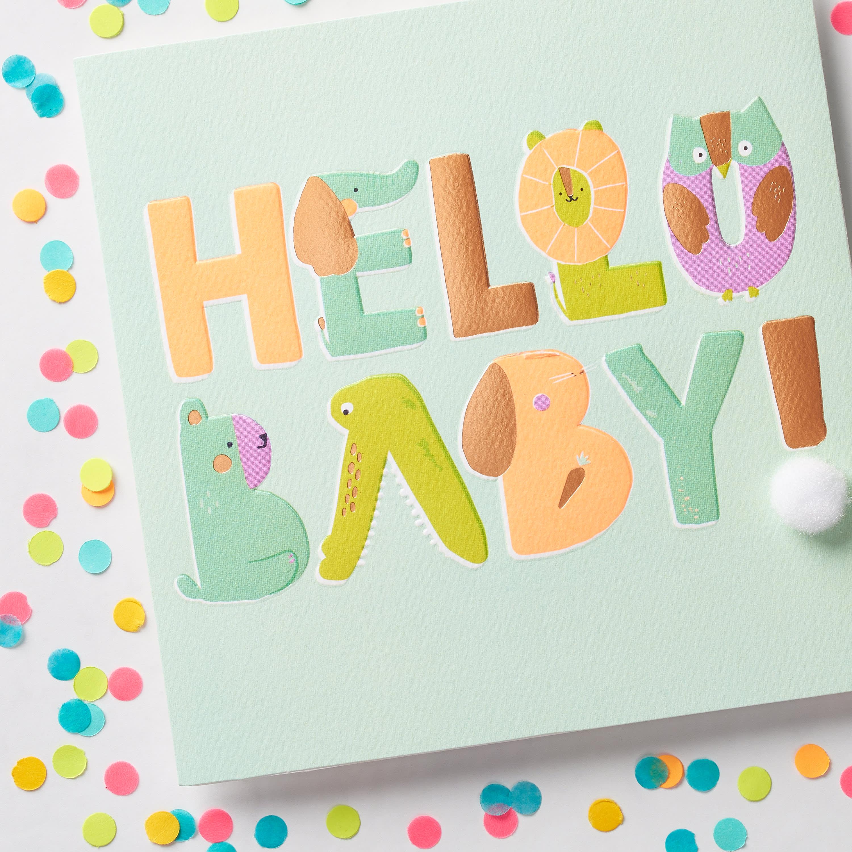 Hello Baby Congratulations Card image