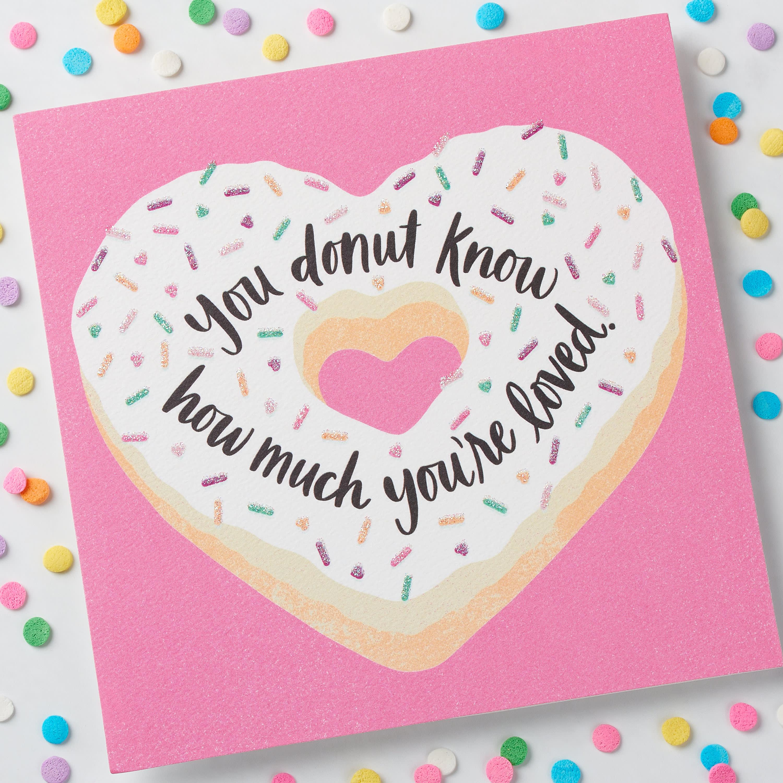 Donut Valentine's Day Card image