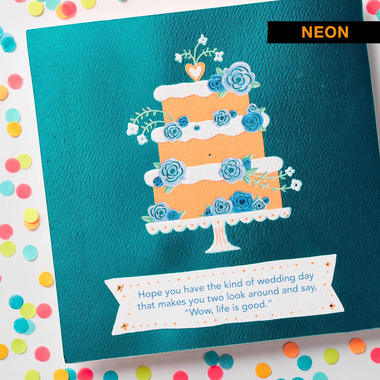 Floral Cake Wedding Card image