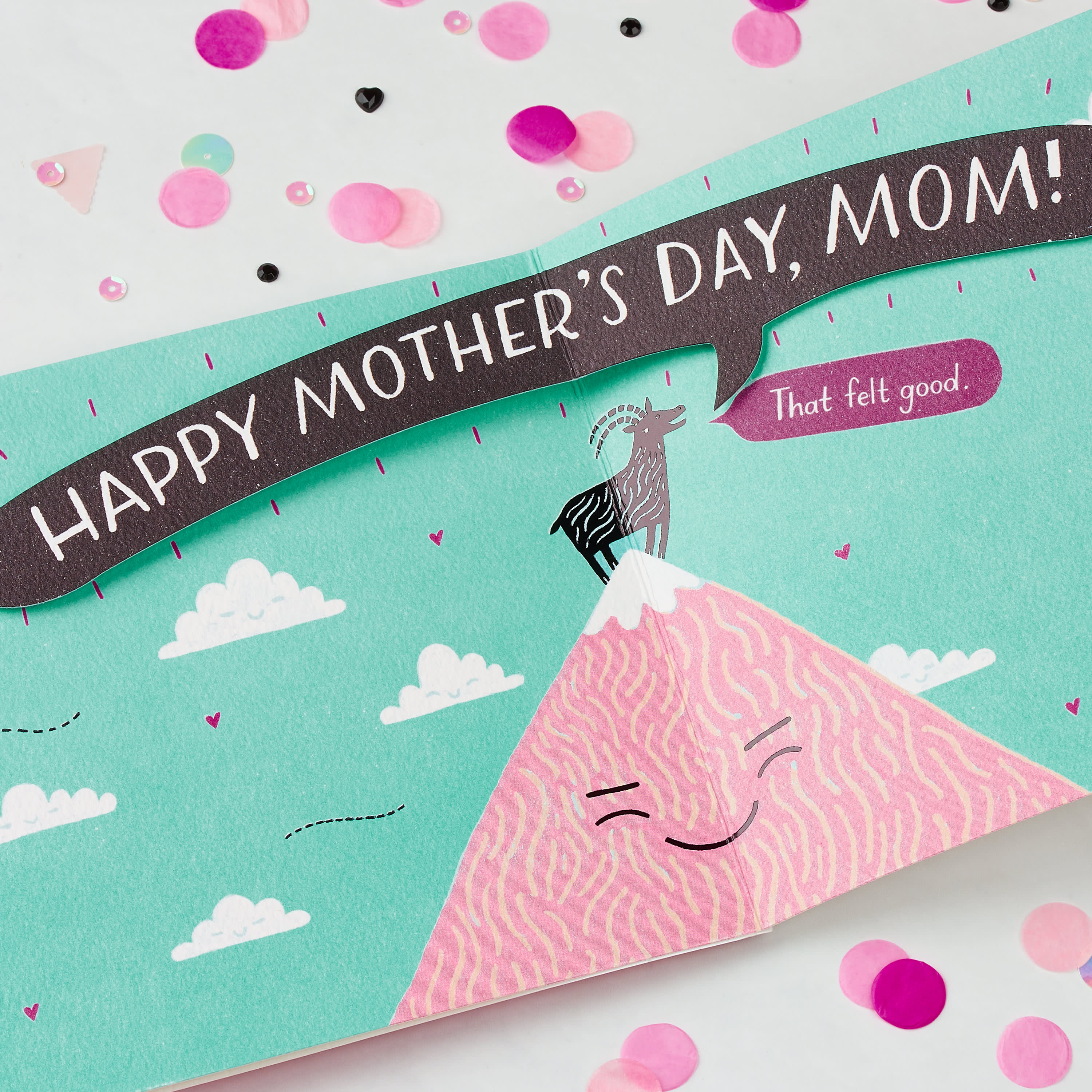 Funny Mother's Day Goat Card image