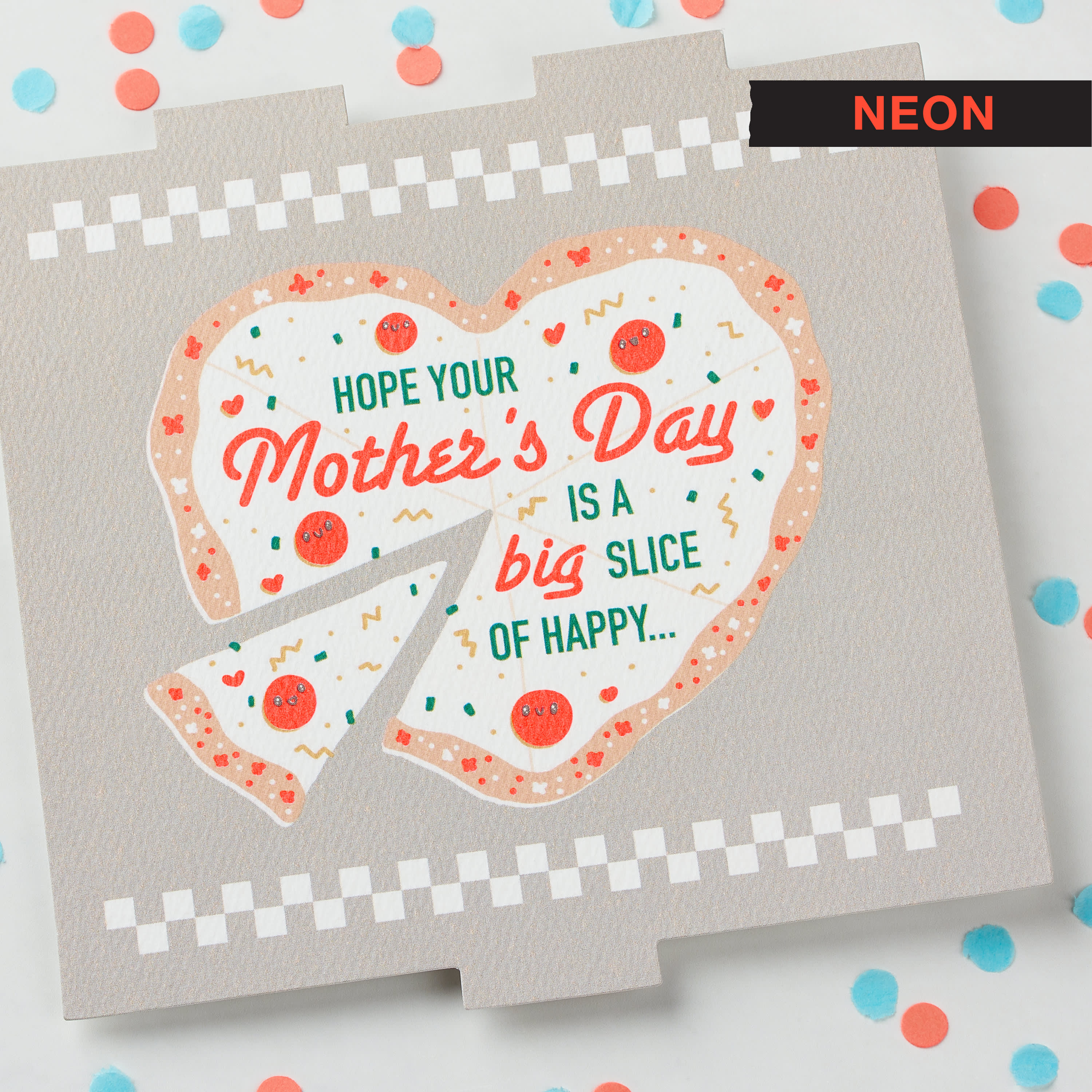 Pizza Mother's Day Card image