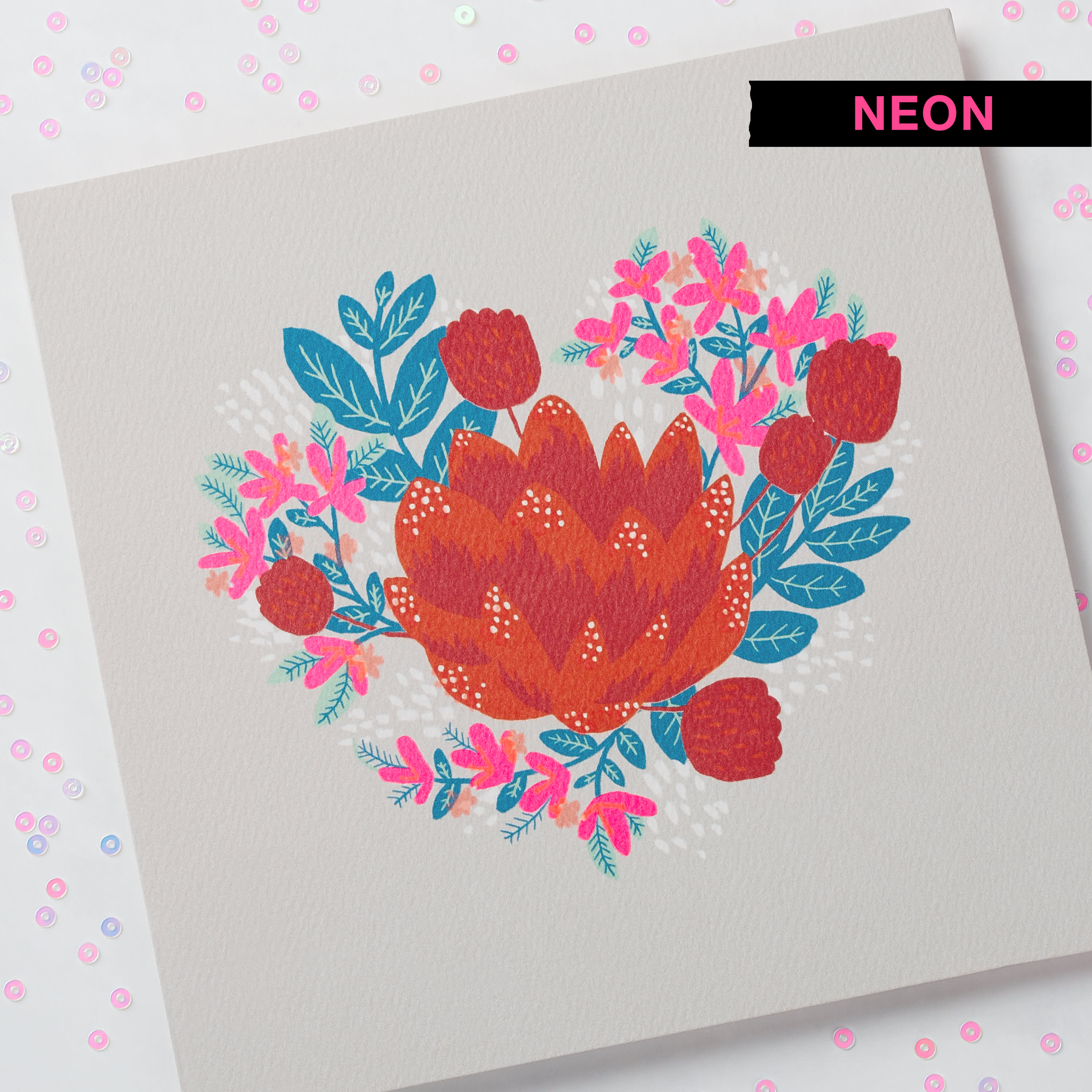 Floral Valentine's Day Card image