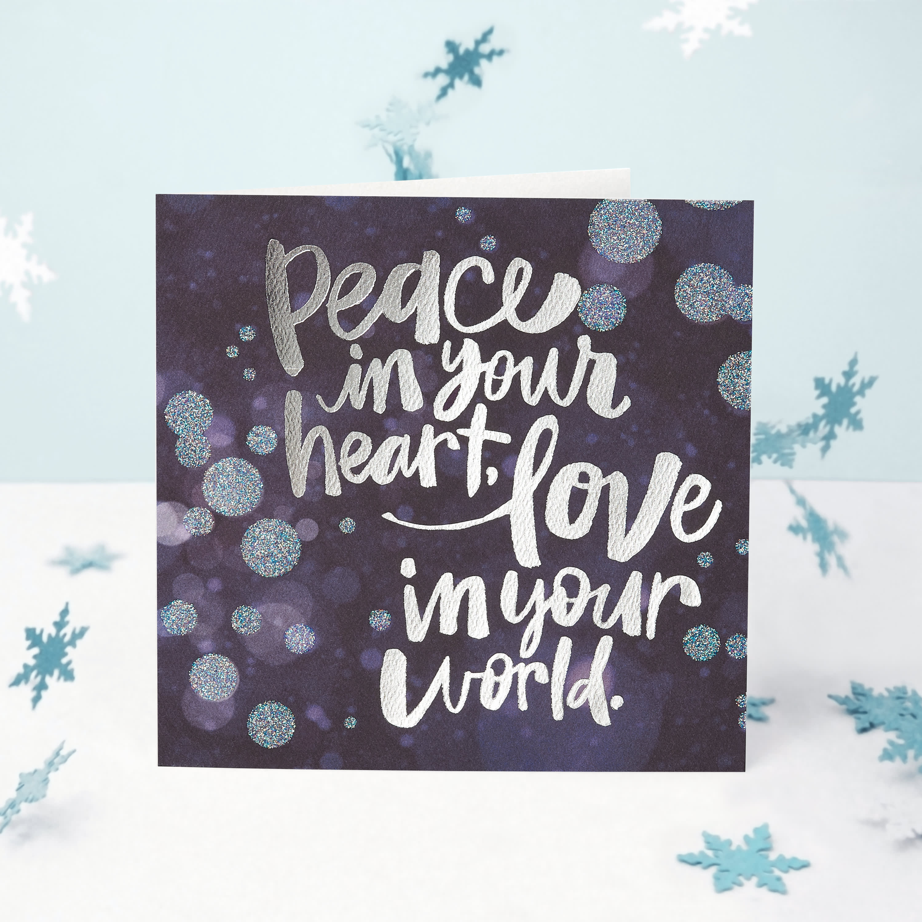 Peace Greeting Card - Christmas, Happy Holidays, Happy New Year, Hanukkah image