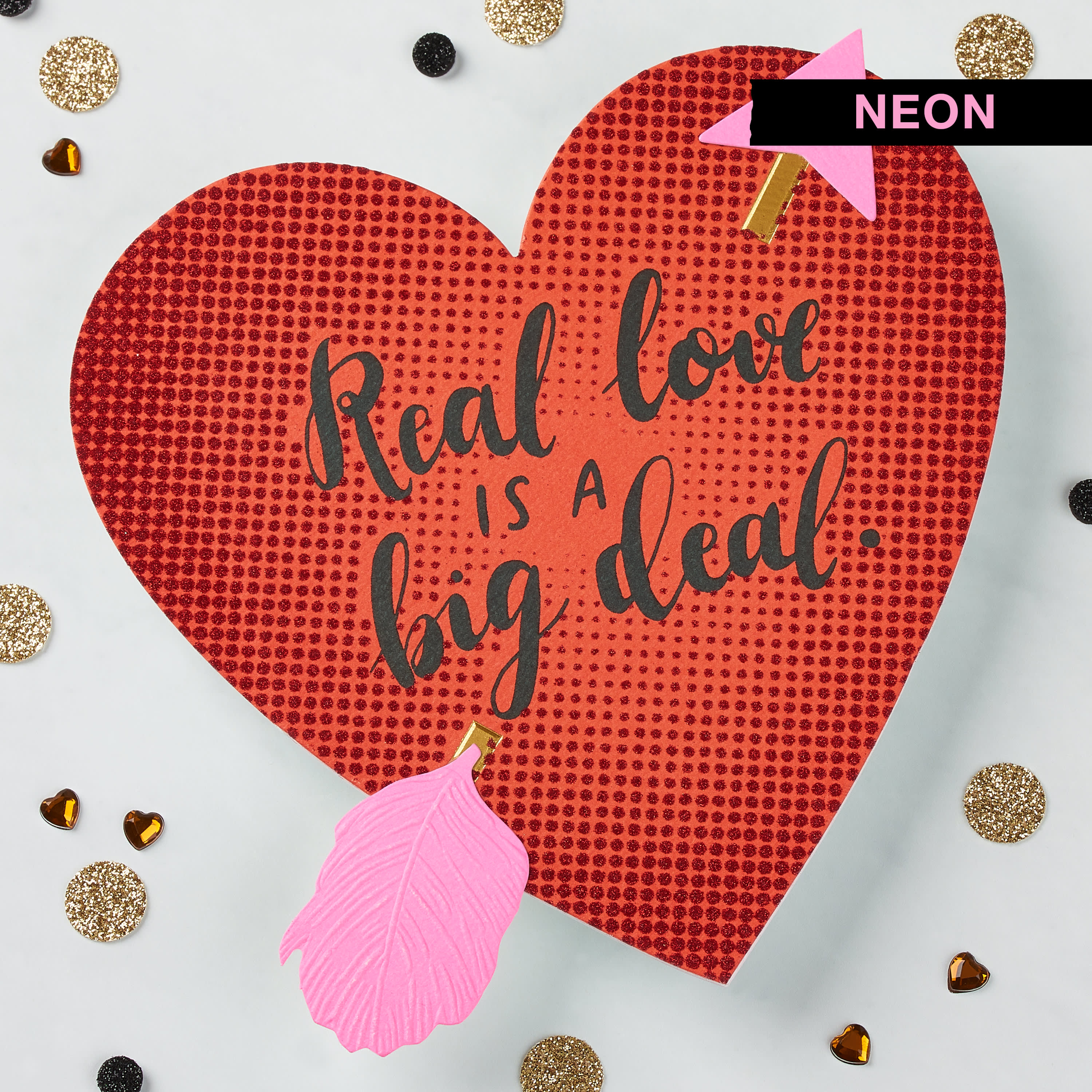 Romantic Real Love Valentine's Day Card image