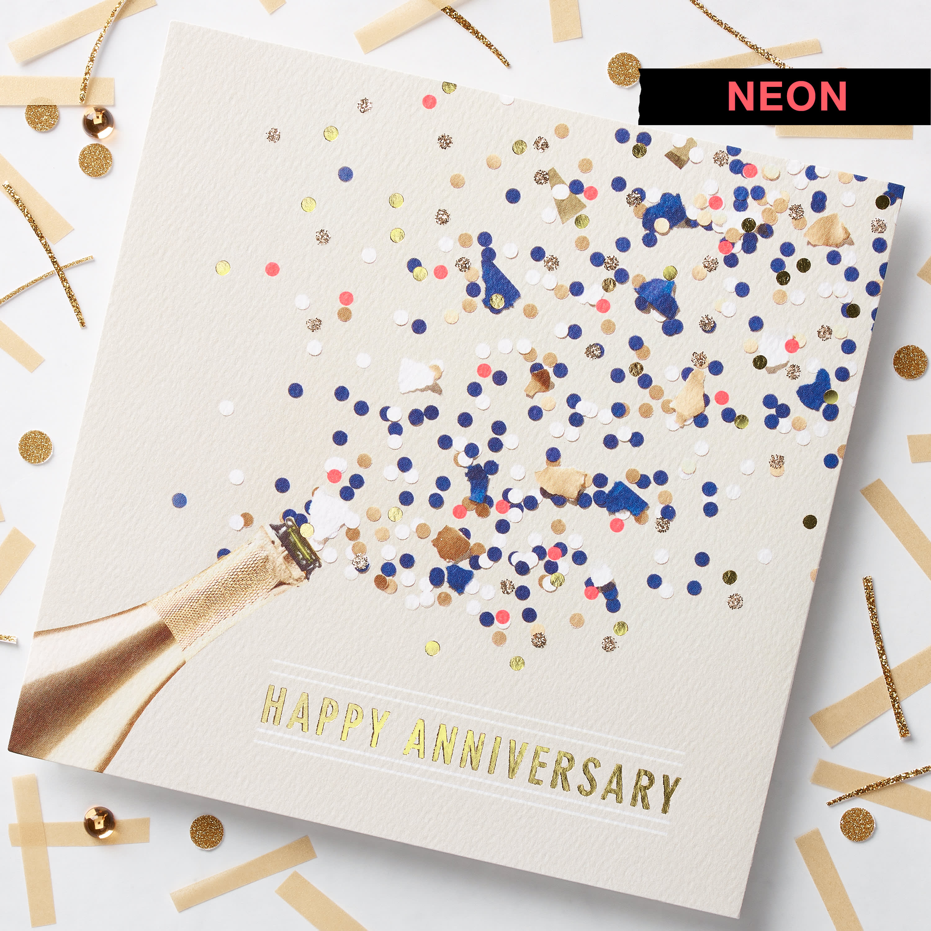 Champagne Anniversary Card image