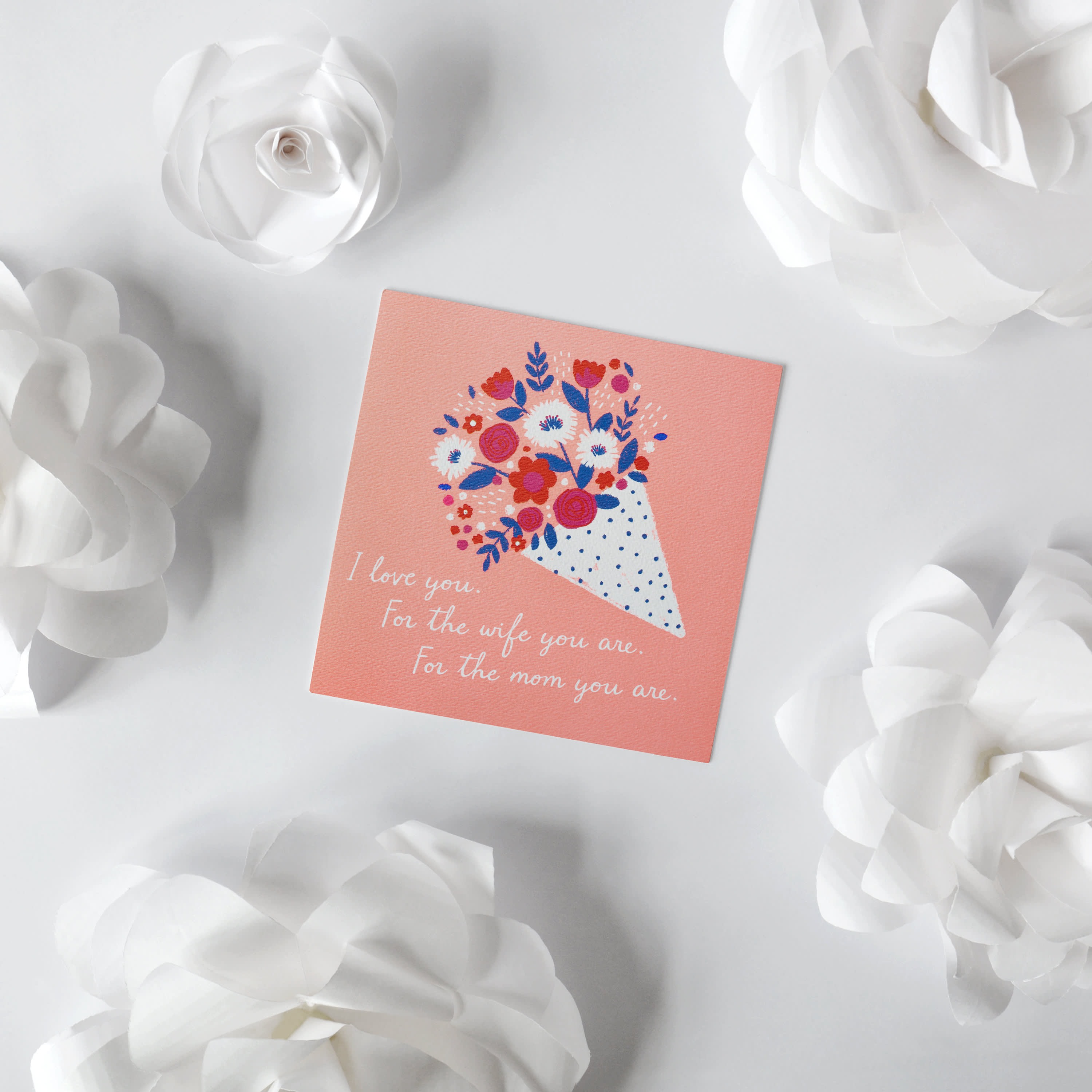 Beautiful Bouquet Mother's Day Card for Wife image