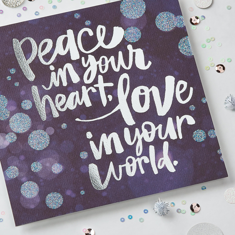 Peace Greeting Card - Christmas, Happy Holidays, Happy New Year, Hanukkah image