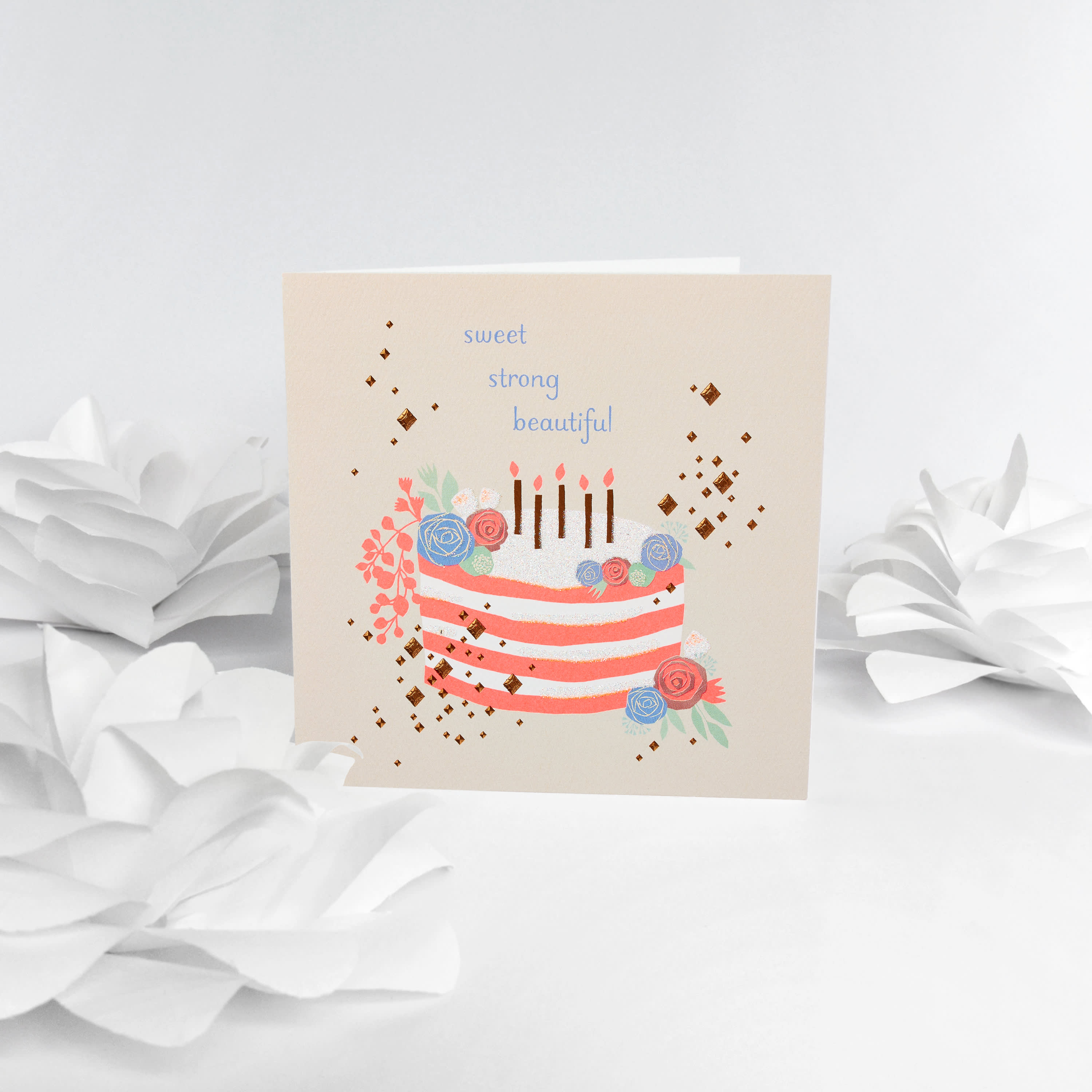 Sweet Strong Beautiful Birthday Card for Mom image
