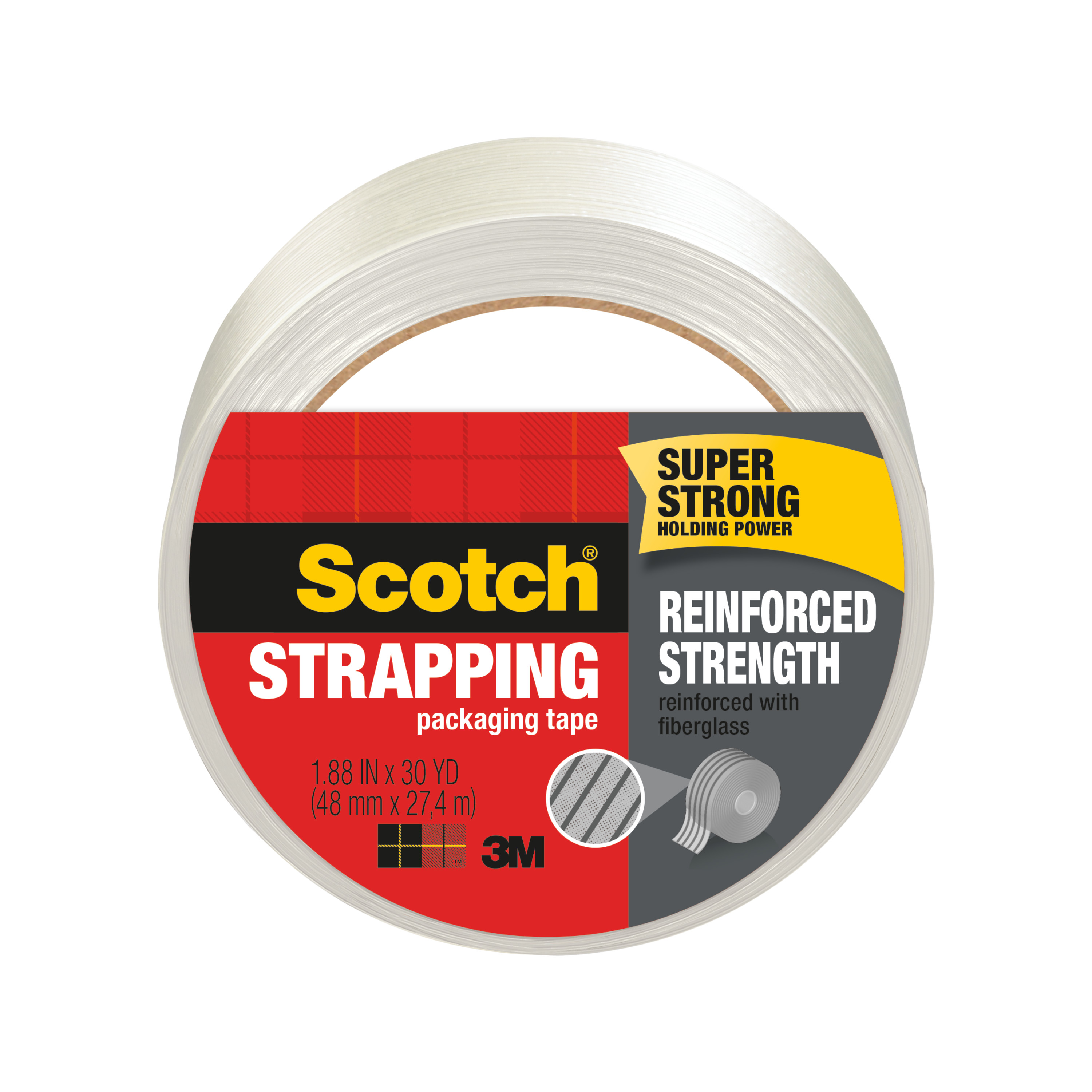 Scotch® Reinforced Strength Shipping Strapping Tape 8950-30, 1.88 in x 30 yd (48 mm x 27,4 m)