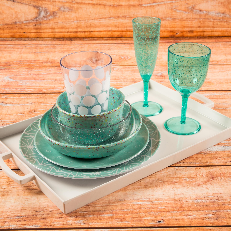 Confetti 24 ounce Soup Bowl, Mint, 6-piece set slideshow image 9