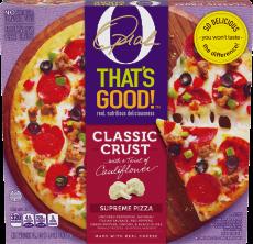 O That's Good! Classic Crust Supreme Pizza 24.1 oz Box