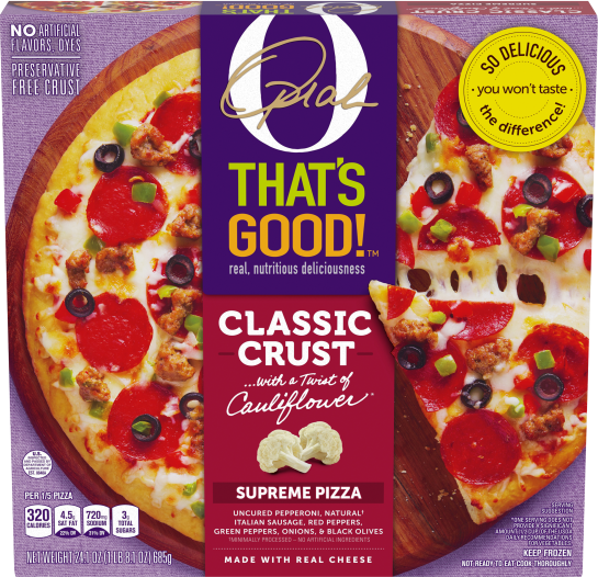O That's Good! Classic Crust Supreme Pizza 24.1 oz Box