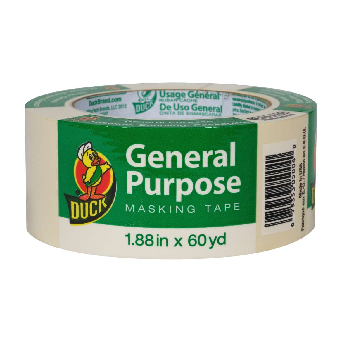 Duck® Brand General Purpose Masking Tape - Beige, 1.88 in. x 60 yd. Image