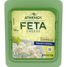 Athenos Crumbled Traditional Feta Cheese 4 oz Tub