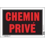 "French Private Drive Sign (8"" x 12"")"