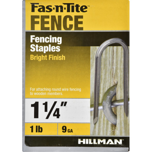 Bright Finished Fence Staple #9 x 1-1/4
