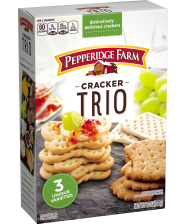 10-ounce packages Pepperidge Farm® Cracker Trio<em> (you'll also need an edible-ink marker to write on the 6 crackers used as tombstones)</em>
