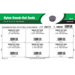 "Nylon Knock-Out Seals Assortment (Fits 7/8"" thru 2-1/2"" Hole Diameter)"