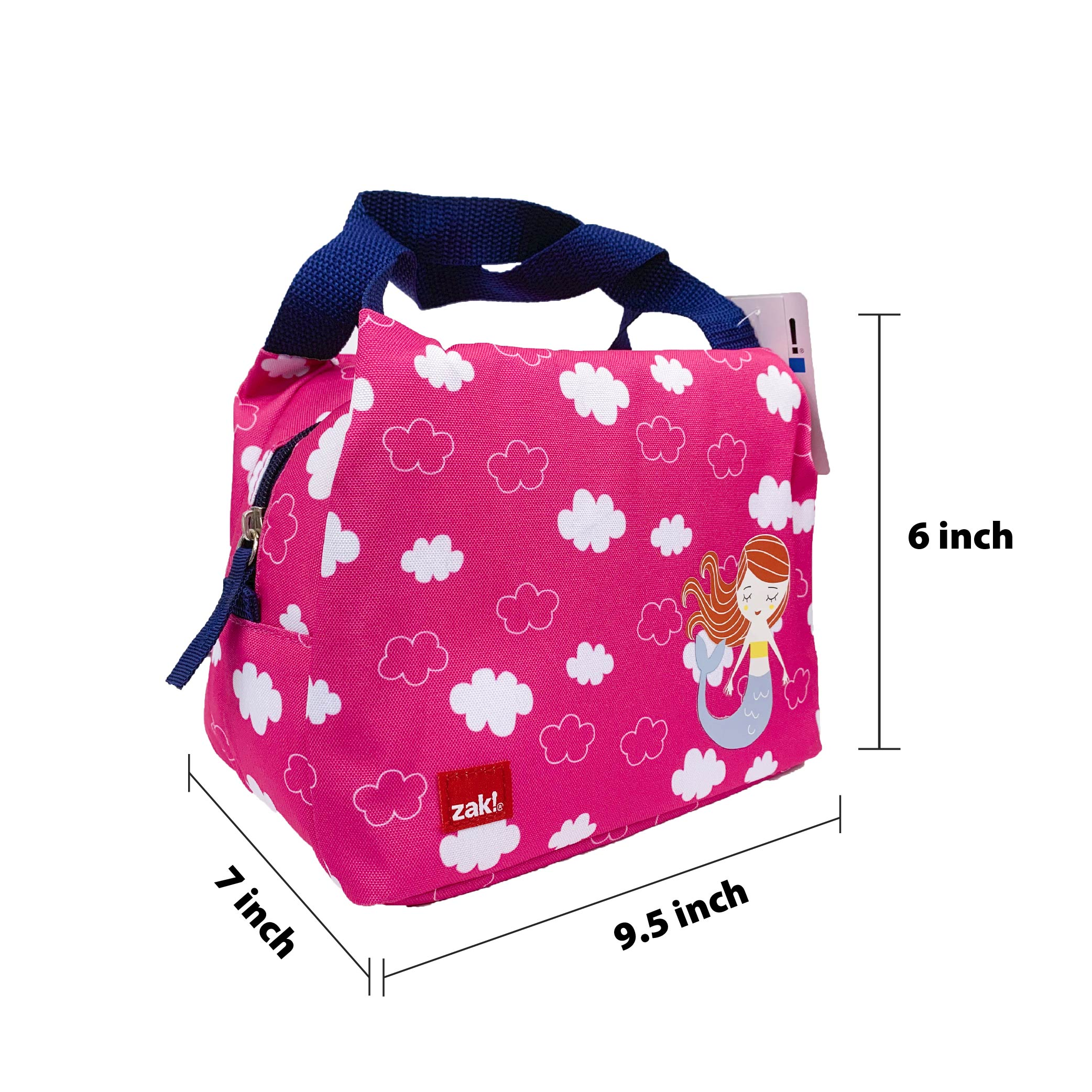 Happy Things Purse Style Insulated Reusable Lunch Bag, Mermaids slideshow image 4