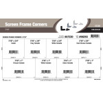 "Screen Frame Corners Assortment (7/16"" Width)"