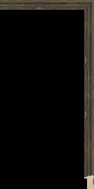 Brittany Shadowbox Charcoal Black 1 1/16