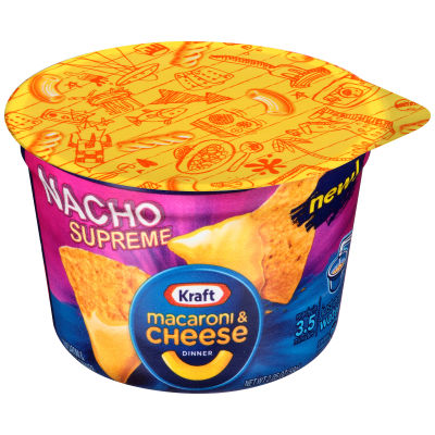 Kraft Easy Mac Nacho Supreme Macaroni & Cheese Dinner 2.05 oz Microwavable Tub