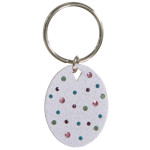 Confetti White Key Chain