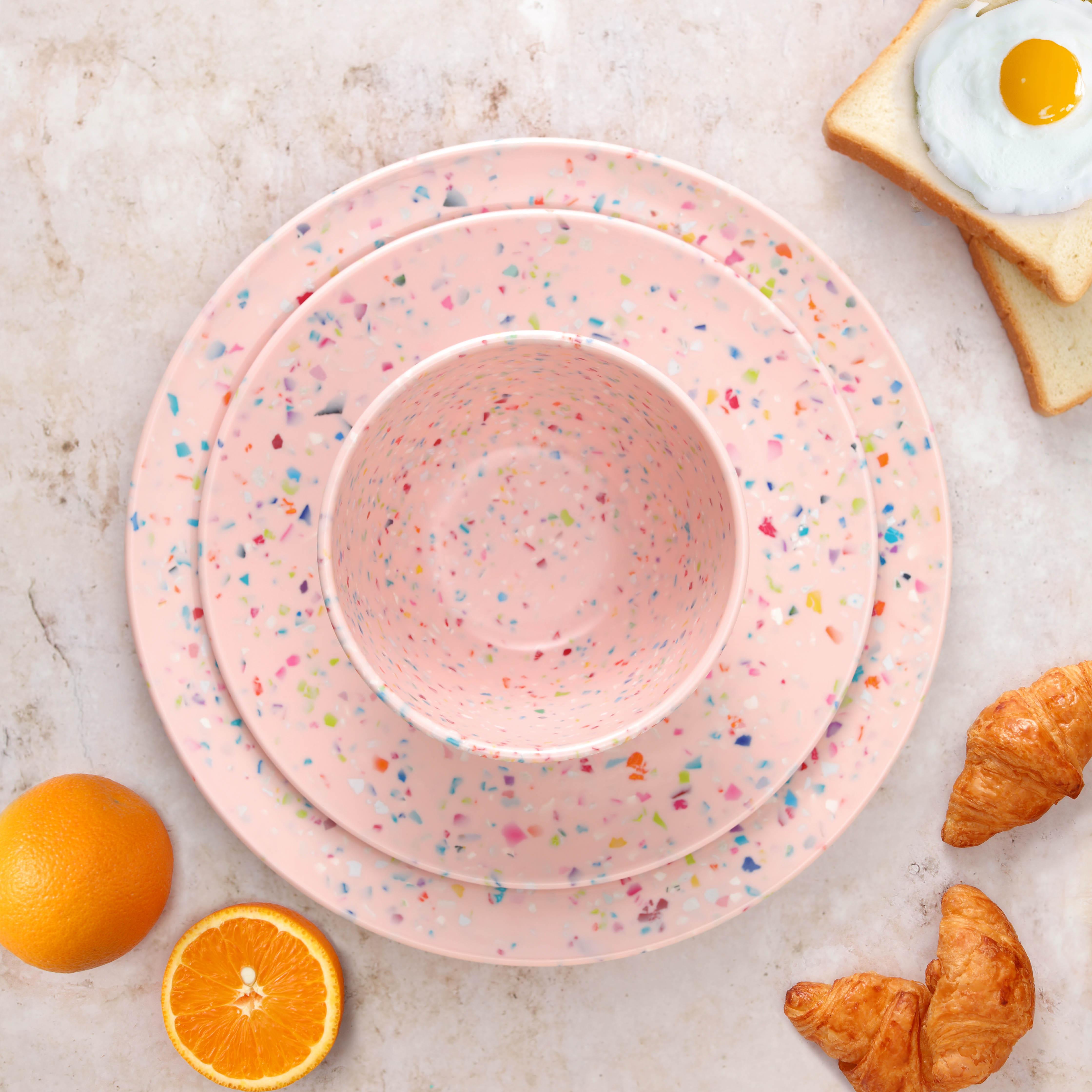 Confetti Dinnerware Set, Multicolored, 12-piece set slideshow image 6