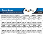 "Screw Covers Assortment (Tan, Cream, Brown, Gray Variants for #4, #6, #10, & 1/4""-20 Diameter Screws)"