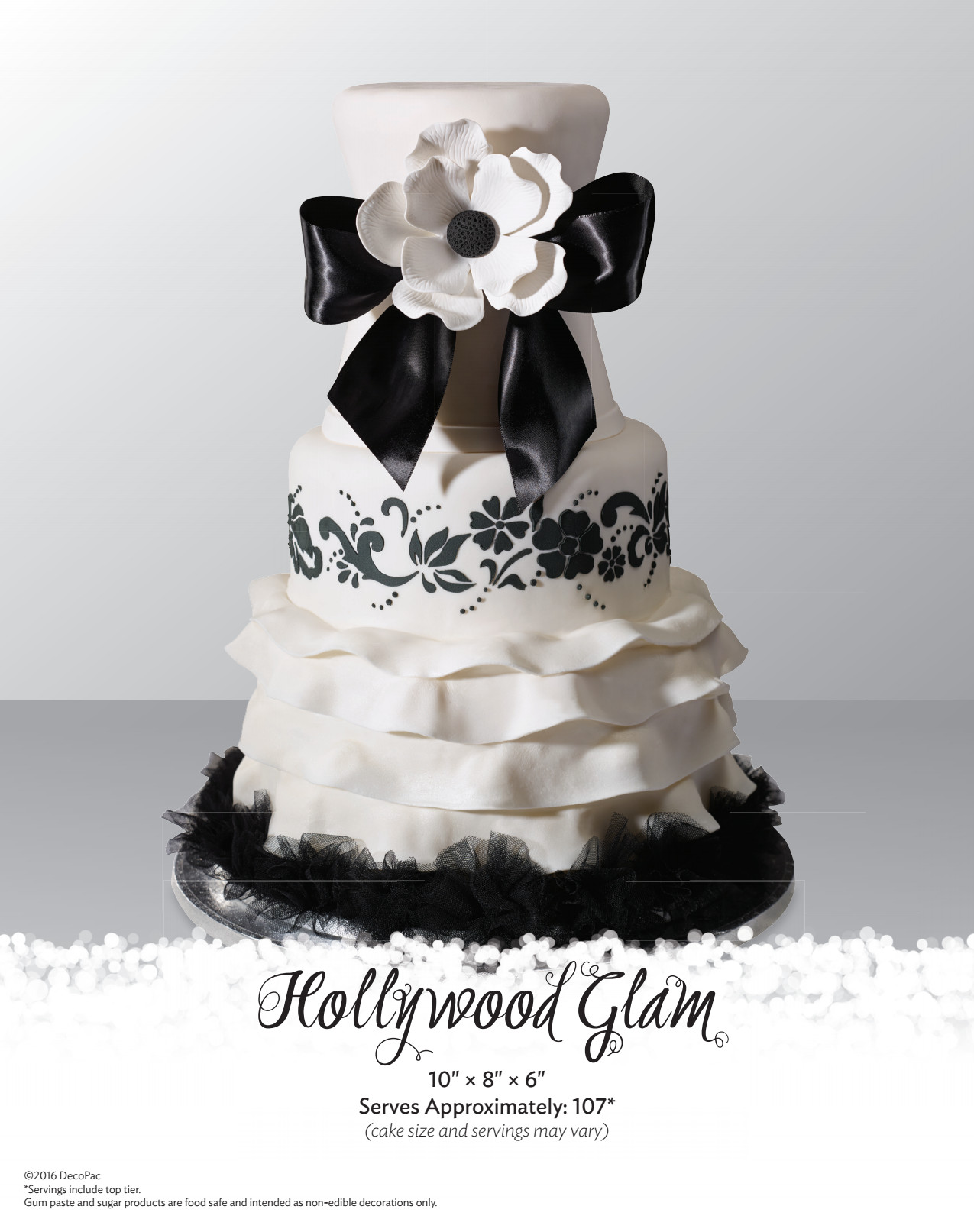 decopac wedding cakes glam wedding cake the magic of cakes 174 page 13371
