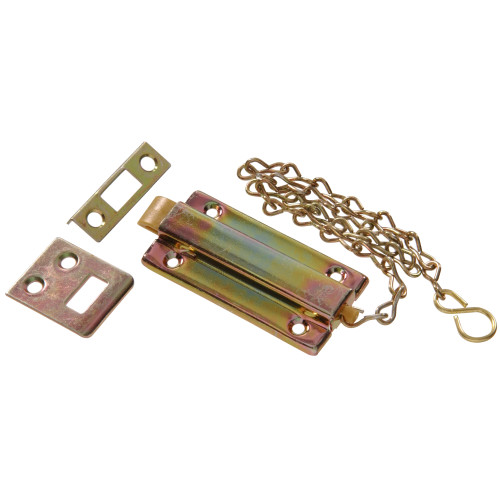 Zinc & Yellow Dichromate Reversible Chain Bolt 3