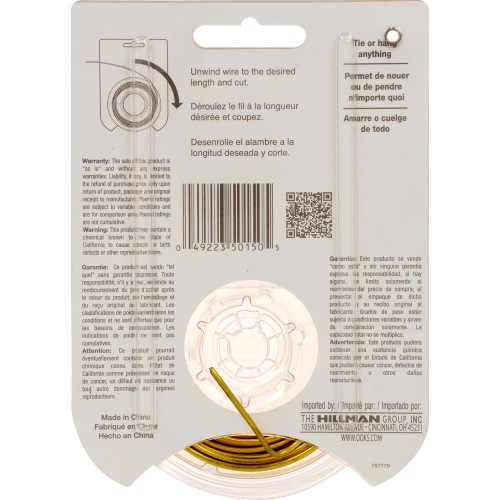 OOK Brass Hobby Wire #16 x 25'