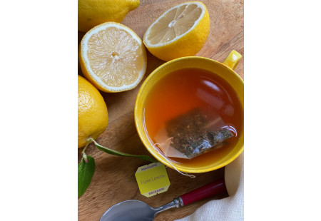 Front of I Love lemon Herbal Tea Plus Vitamin C box