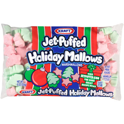 Kraft Jet-Puffed HolidayMallow Marshmallows 8 oz Wrapper