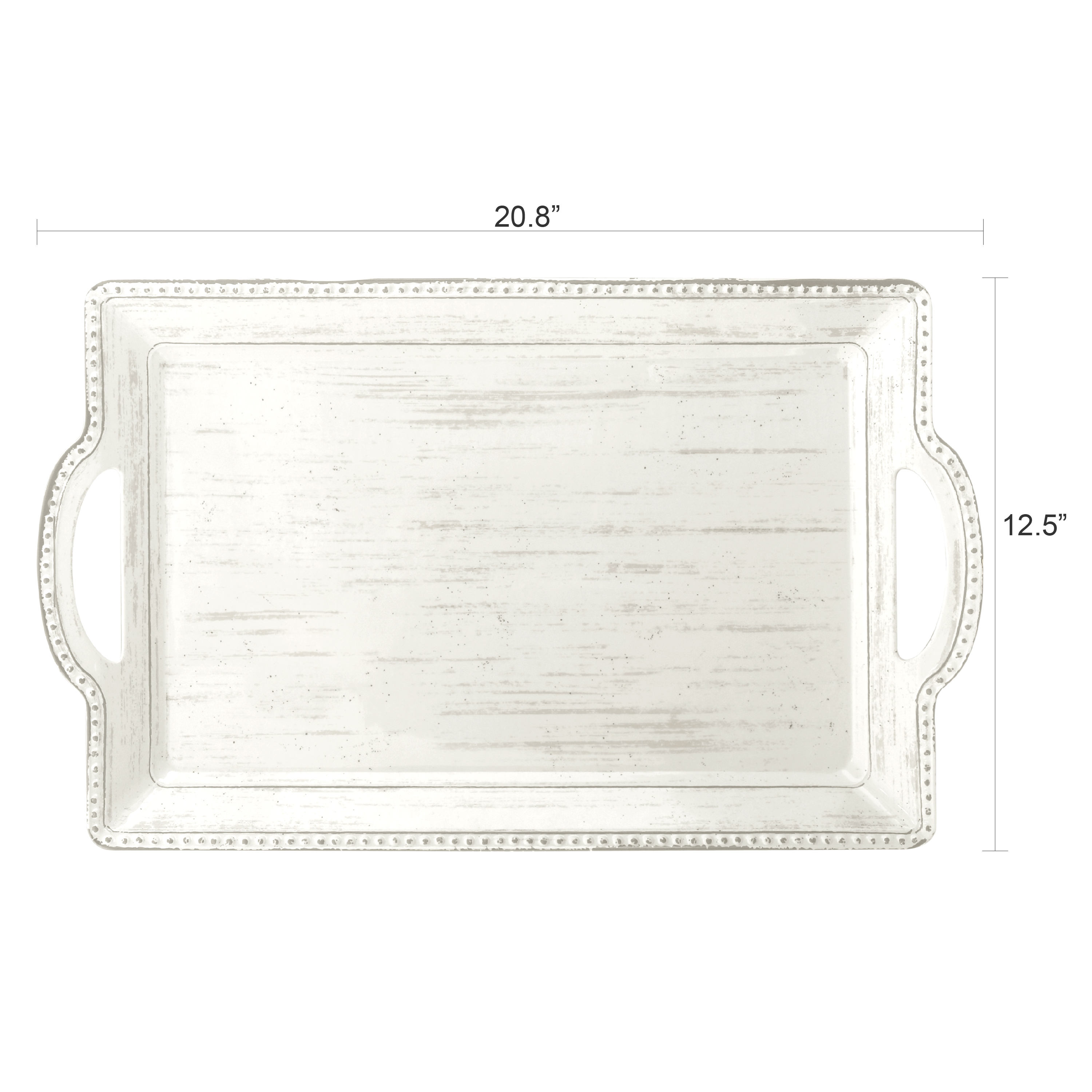 French Country Serving Tray with Handles, Oyster slideshow image 5