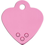 Pink with Pink Crystals Small Heart Quick-Tag