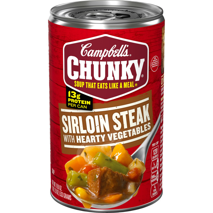 Grilled Sirloin Steak & Hearty Vegetables Soup