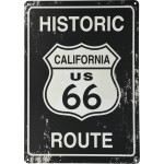"Vintage Route 66 Novelty Sign (10"" x 14"")"