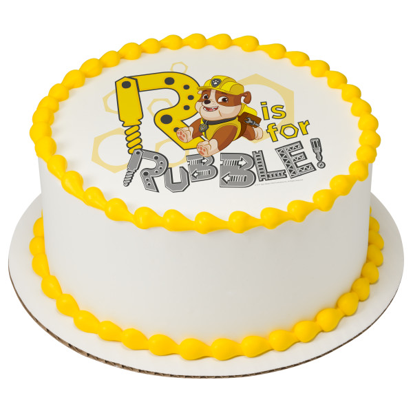 PAW Patrol™ R is for Rubble PhotoCake® Image