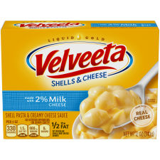 Velveeta Shells & Cheese Made with 2% Milk Cheese, 12 oz Box